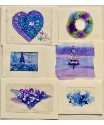 Christmas Cards kit (Blue and Purple)