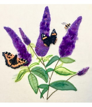 Book Project 9: Project Pack for Buddleia with Bee and Butterflies