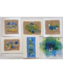 Doodles Cards Kit (Blue)