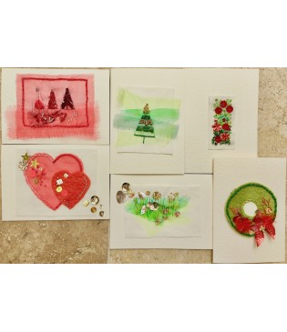 Christmas Cards kit (Red and Green)