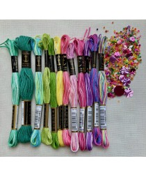Stranded Cotton Skein Pack in assorted colours